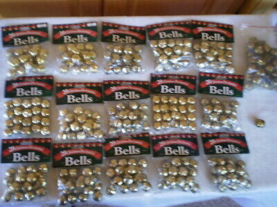 New Christmas Decoration Bells Gold Tone +I Bag Used Free