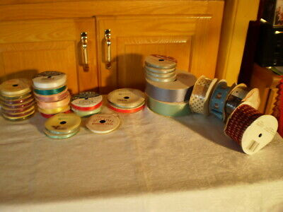 Lot Of 30 ROLLS OF  Ribbons DIFFERENT SIZES
