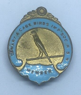 Canary & Cage Birds Imp Soc NSW Member Badge #100