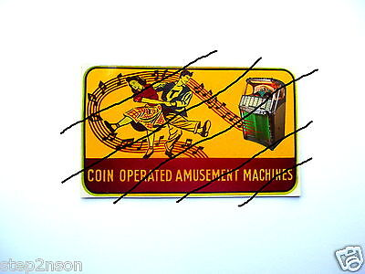 Wurlitzer 1900 Jukebox machine Water Release Decal  Juke Box Coin Amusement L@@K