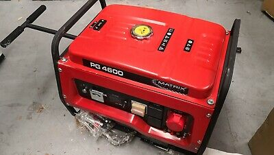 MATRIX 4500w Max/4200w Rated Petrol Backup Generator 3 Phase Electric Start RCD