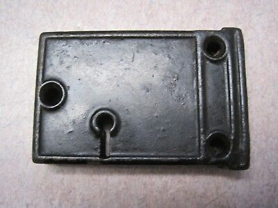 Antique Cast Iron Rim Lock skeleton key 3  x 2 INCH  Door key Latch back door