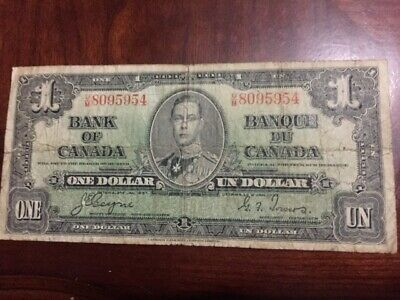 Bank of Canada 1937 $1 One Dollar Note Coyne-Towers FREE SHIPPING