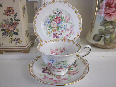Beautiful Vintage Royal Albert Nosegay Fine Bone China Trio