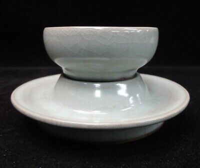 """A Set Of Rare Old Chinese """"Ru"""" Kiln Porcelain Cup and Saucer Plate"""