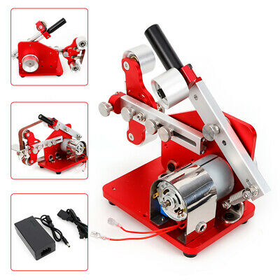 Grinder Electric Belt Sander Polishing Grinding Machine Cutter Edge Sharpener US