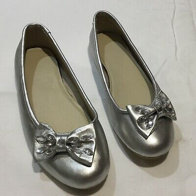 Silver Hand Made Flats Size 8 To 8.5 New Not Worn