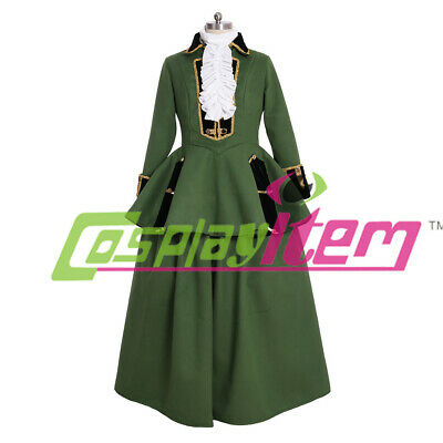 18th Century Marie Antoinette Colonial green riding habit ball gown dress