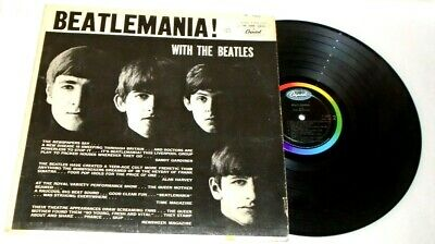 THE BEATLES Beatlemania With The Beatles ORIGINAL CANADA 1963 LP Doodles on back