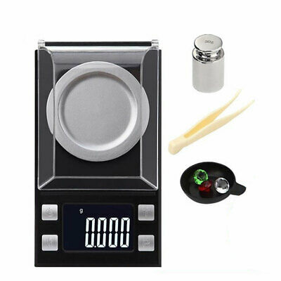 Small 0.001g - 50g Kitchen Lab Scale Digital LCD Electronic Jewellery Scales AU