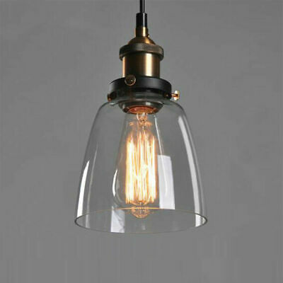 Vintage Chandelier Retro Glass Ceiling Lamp Shade Pendant Light Fixture E27 USA