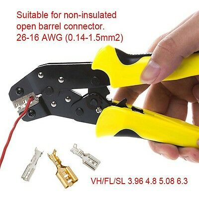Wire Ratchet Crimping Pliers Terminal Crimper Clamp Tool 0.14-1.5mm²
