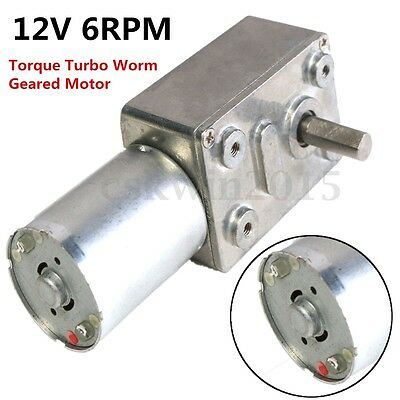 GW370 12V 6rpm Reversible High Torque Reducer Turbo Worm Geared DC 35A