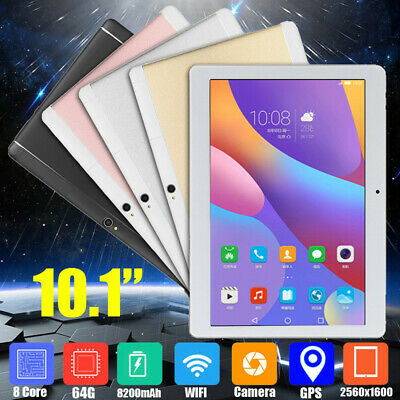 10.1'' 64GB+4G/2G Android 7.0/6.0 Tablet PC Octa 8 Core HD WIFI bluetooth 2