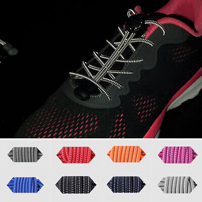 Reflective Shoeslaces Elastic Tie-free Running Sneakers Shoe Laces Solid color