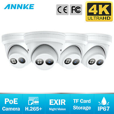 ANNKE 8MP IP Security Dome Camera POE Outdoor IR Night Vision Video 4K HD POE AU