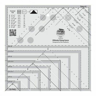 Creative Grids Ultimate Flying Geese Template Ruler - CGRDH4