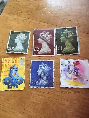 stamps  gb large parcel various
