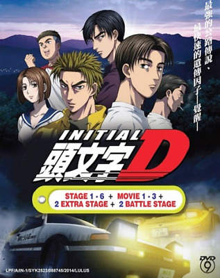Anime Dvd Initial D Stage 1 - 6 +2 Battle Stage + 2 Extra Stage+3 Movie Cartoon.