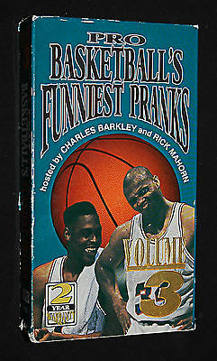 NBA Pro Basketball's Funniest Pranks Vol 3 (1993, VHS) Hosted by Charles Barkley