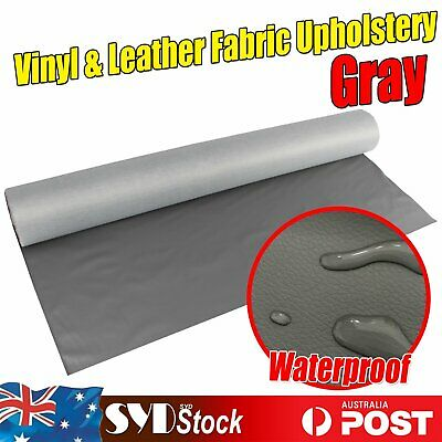 Grey Gray Fabric Synthetic Leather Auto Upholstery Marine Seat Restore Sewing OZ