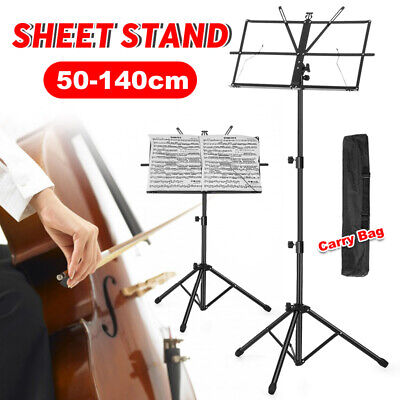 Adjustable Folding Music Sheet Stand Portable Tripod Holder Mount with Carry Bag