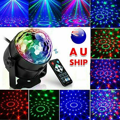 RGB LED Effect Disco Light Stage DJ Laser Crystal Magic Ball Lights Party Lamp
