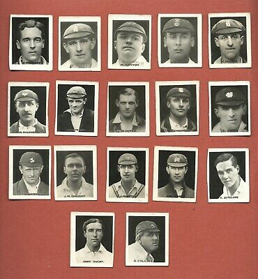 "1922 Favourite Cricketer Series Presented With ""Young Britain"" - 17 Cards"