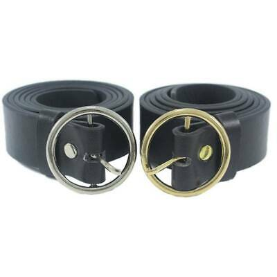 Fashion Women Pin Buckle Round Metal Circle Belts PU Fashion All-Match Belt