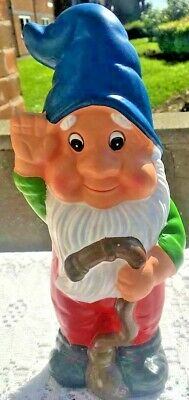 Large Latex Gnome Mold Mould Crafts Gifts Home Garden Ornament Dark Blue Hat