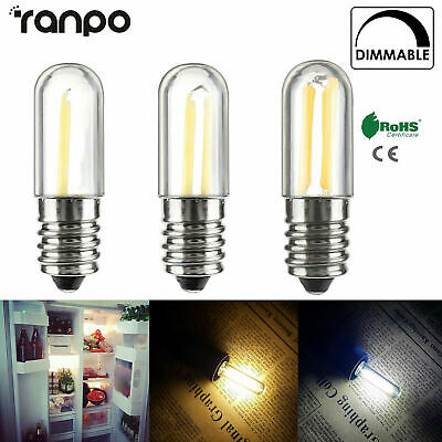 Dimmable Mini E14 LED nevera congelador COB luz bombillas 2W 4W lámpara 220V RK