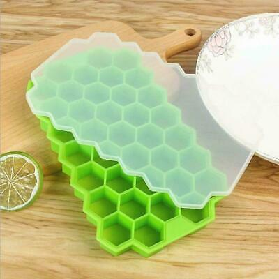 DIY Tray Silicone Ice Maker Mold 37 Cubes Small Honeycomb Ice Cube Frozen Moulds