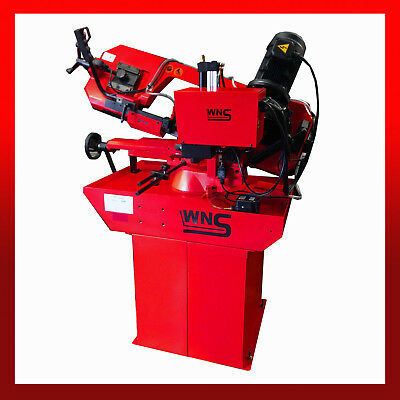 WNS Band Saw Engineering Industrial Metal Cutting Angle 2450mm Blade Gear Driven