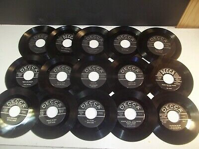 15 Vintage rare 45 ep Decca records assorted artist DJ collection lot.