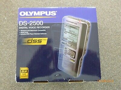OLYMPUS DS-2500 DIGITAL VOICE RECORDER, including SD card