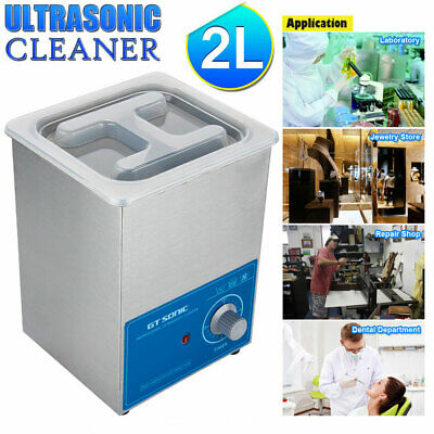 2L Ultrasonic Cleaner Stainless Steel Ultra Sonic Bath Cleaning Tank Timer Watch