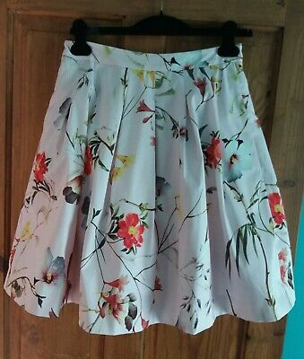 069c58c0a NWT TED BAKER THALI Chatsworth Bloom High-Low Midi Skirt UK 1 US 2-4 ...