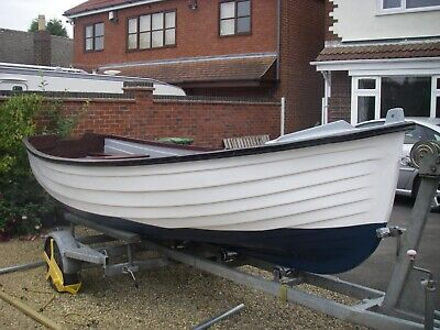 **RE-CONDITIONED** 16ft 'Bristol' Style Fishing Boat & Trailer