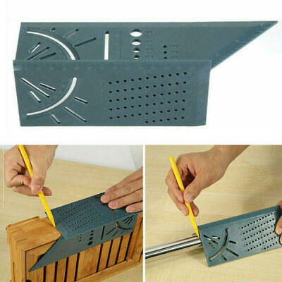 3D Mitre Square Angle Measuring Woodworking Tool with Gauge Rulers 90 D TOZ