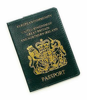 United Kingdom of Great Britain Green Travel Passport Cover ID Holder Case NG1
