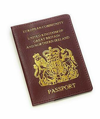 United Kingdom of Great Britain Red Travel Passport Cover ID Holder Case NG1