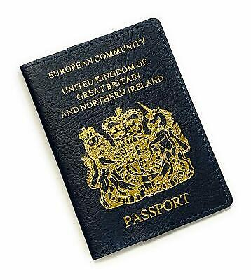 United Kingdom of Great Britain Blue Travel Passport Cover ID Holder Case NG1