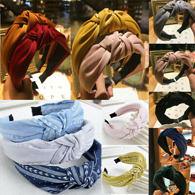 Womens Cute Fabric Headband Alice Band Knot Fashion Boho Headband Twist Hairband