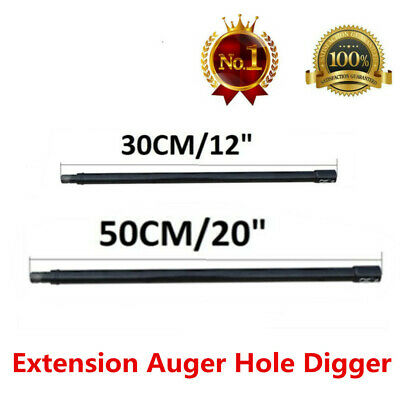 "Professional Extension Auger 20"" 12"" Long 3/4"" Shaft Gas Post Hole Digger Earth"