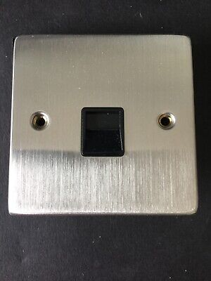 Click Deco VPSS120BK Stainless Steel Master Phone Socket - New & Boxed