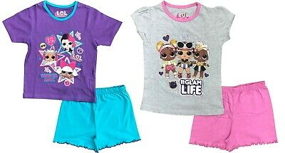 LOL Surprise Girls Short Summer Pyjamas Pjs