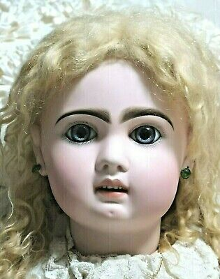 "Antique French Bebe Jumeau, huge 34"" doll, superb in perfect original condition"