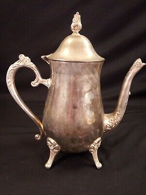 Silverplate Coffee Pot Pitcher With Lid