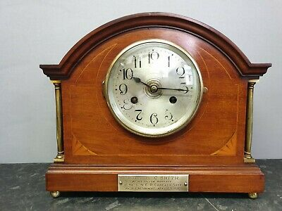 Vintage Edwardian 8 Day Table Clock with Strike Presented by L N E R