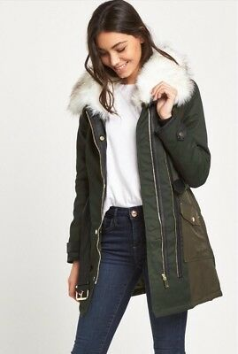 68978088dbe79 ASOS LADIES VERY warm coat with hood lined padded 12 winter white ...